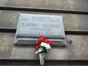 Lapide dedicata a Barroccu Antonio (1915 - 1944)