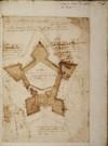 Ferrante Vitelli. Progetto per trasformare in fortezza il fortino di Montauban nella Contea di Nizza, 1578. © Archivio di Stato di Torino.