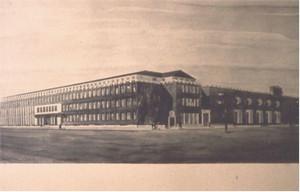 Progetto del 1947. ©Archivio Casa di Carità Arti e Mestieri.