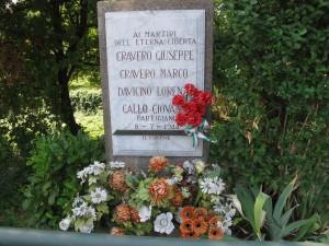 Lapide dedicata a Cravero Giuseppe, Cravero Marco, Davicino Lorenzo, Gallo Giovanni