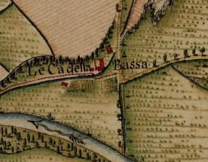 Cascina Tetti Basse di Dora. Carta Topografica della Caccia, 1760-1766 circa, ©Archivio di Stato di Torino