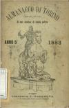 «Almanacco di Torino: compilato per cura di due studiosi di storia patria», A. V, 1883, Torino, copertina