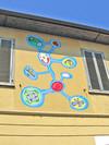 Enrico De Paris, Senza titolo, 2000, opera murale per MAU Museo Arte Urbana, via Rocciamelone 7. Fotografia di Alessandro Vivanti, 2011