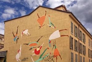 Lisa Lazzaretti. Murale senza titolo, 2011, via Mameli 18