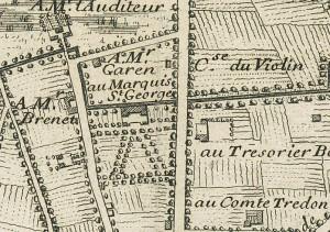 Cascina La Marchesa, già La Florita. Gaspard Baillieu, Plan de la Ville et Citadelle de Turin, 1705, © Archivio Storico della Città di Torino