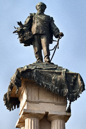 Pietro Costa, Monumento a Vittorio Emanuele II (particolare della statua), 1882-1899. Fotografia di Mattia Boero, 2009. © MuseoTorino.