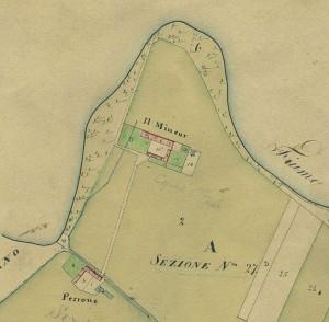 Cascina Mineur. Catasto Gatti, 1820-1830. © Archivio Storico della Città di Torino