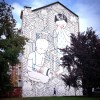 """""""Habitat"""" di Millo, muro dipinto in via Cruto 3. Fotografia di Millo, 2014"""