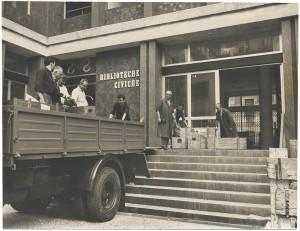 Il nuovo edificio della Biblioteca civica, i libri tornano a casa, 1960. Biblioteca civica Centrale © Biblioteche civiche torinesi