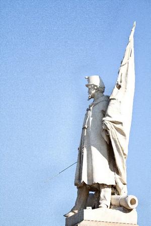 Vincenzo Vela, Monumento all'Alfiere dell'Esercito Sardo (particolare), 1856. Fotografia di Mattia Boero, 2010. © MuseoTorino.