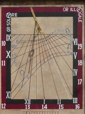 Orologio solare, Asilo Principe di Napoli
