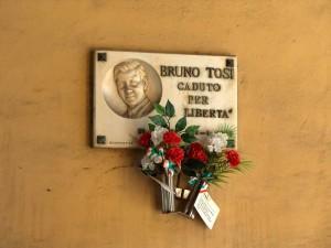Lapide dedicata a Tosi Bruno (1928 - 1945)