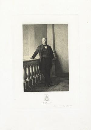 Camillo Benso, conte di Cavour. Litografia Di Bartolo, Roma 1872. © Archivio Storico della Città di Torino