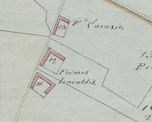 Cascina Tre Tetti Nigra. Mappa primitiva Napoleonica, 1805, © Archivio Storico della Città di Torino