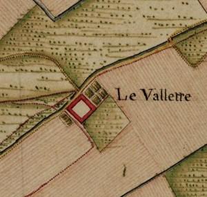 Cascina Le Vallette. Carta Topografica della Caccia, 1760-1766 circa. © Archivio di Stato di Torino