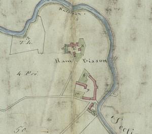 Cascina Biasone. Mappa primitiva Napoleonica, 1805. © Archivio Storico della Città di Torino