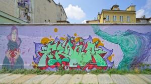 Artisti vari, La Regina delle Alpi, 2018,  via Carena/via dell'Industria