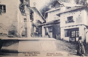 Orologio solare presso il Villaggio Alpino, Esposizione 1911