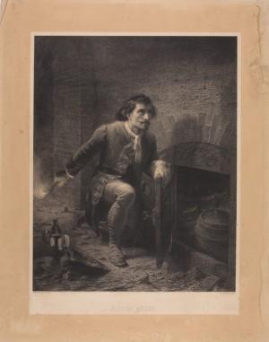 Pietro Micca nell'atto di accendere la mina, litografia dal dipinto di Gastaldi. © Museo Nazionale del Risorgimento Italiano di Torino.