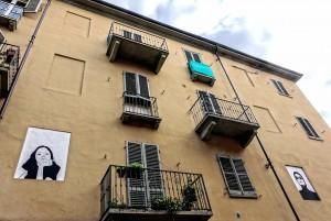 Antenore Rovesti, murale senza titolo, s.d., via Rocciamelone 12a, MAU Museo Arte Urbana. Fotografia di Roberto Cortese, 2017 © Archivio Storico della Città di Torino