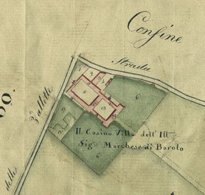 Cascina Barolo. Catasto Gatti, 1820-1830. © Archivio Storico della Città di Torino