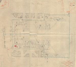 Bombardamenti aerei. Censimento edifici danneggiati o distrutti. ASCT Fondo danni di guerra inv. 375 cart. 7 fasc. 11. © Archivio Storico della Città di Torino