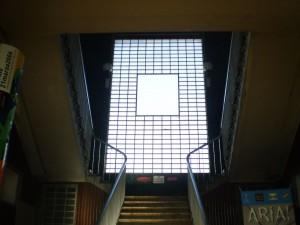 La scala di accesso agli ex uffici della Ceat. Fotografia Giuseppe Beraudo, 2009