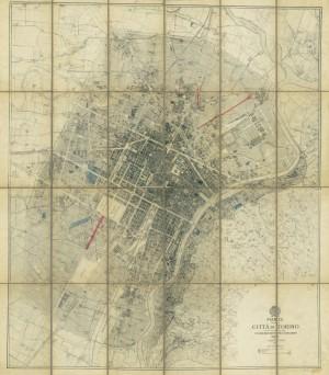 «Pianta della Città di Torino coll'indicazione del Piano Unico Regolatore e di ampliamento 1907».