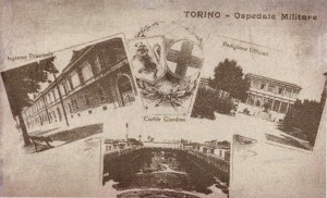 Cartolina dell'Ospedale Militare in Cadeddu, p. 113.