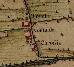 Cascina Tre Tetti Nigra. Carta Topografica della Caccia, 1760-1766 circa, ©Archivio di Stato di Torino