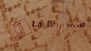 Cascina Porporata. Carta della Montagna  1694 - 1703. © Archivio di Stato di Torino.
