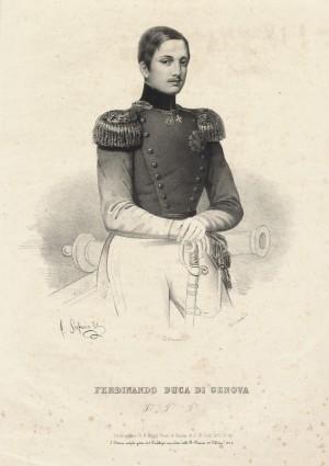 Ferdinando di Savoia, duca di Genova. Litografia di Junck. © Archivio Storico della Città di Torino
