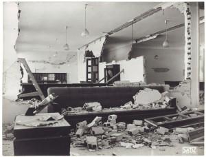FIAT Autocentro - Stabilimento di Mirafiori. Effetti prodotti dal bombardamento dell'incursione aerea del 20-21 novembre 1942. UPA 2202_9B06-11. © Archivio Storico della Città di Torino