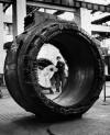 OGR. Fasi della Grande Riparazione di Locomotore trifase E.43, 1992. Collezione Claudio Pedrazzini. © Museo Ferroviario Piemontese per MuseoTorino