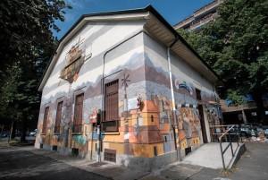 Alessandra Carloni,  murale dell'ex casa del dazio, piazza Rebaudengo