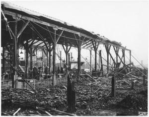 Via Rivalta 61. Stabilimento FIAT - Sezione Materiale Ferroviario. Effetti prodotti dal bombardamento dell'incursione aerea del 20-21 novembre 1942. UPA 2065_9B05-18. © Archivio Storico della Città di Torino