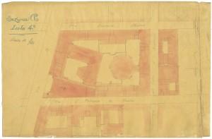 Catasto Gatti 1820-1822, Colonnario - Sezione Po, Isola 4, via San Francesco da Paola © Archivio Storico della Città di Torino