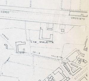 Cascina Maletta. Istituto Geografico Militare, Pianta di Torino, 1974. © Archivio Storico della Città di Torino