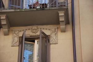 Particolare della decorazione dei sovra porte e sovra finestre. Fotografia di Giuseppe Beraudo, 2011