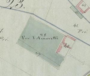 Cascina Amoretti. Mappa primitiva Napoleonica, 1805. © Archivio Storico della Città di Torino