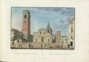 Piazza San Giovanni e Duomo, Biasioli su disegno di Moutier. © Archivio Storico della Città di Torino