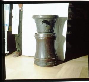 Regia farmacia Masino, mortaio in bronzo, 1998 © Regione Piemonte