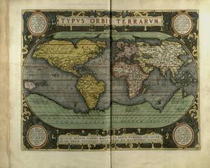 Theatrum orbis terrarum di Abraham Ortelius, 1595. Biblioteca civica Centrale  67.A.29 e 67.A.30 © Biblioteche civiche torinesi