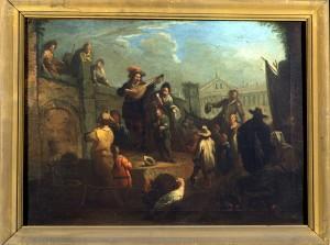 Pietro Domenico Olivero (1679-1755), Musicanti girovaghi, XVIII secolo, olio su tela, cm 58,5x42,7. Torino, Museo Civico d'Arte Antica e Palazzo Madama, inv. 0645/D