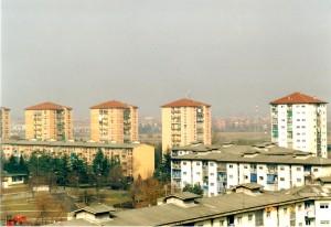 Vista delle torri di Falchera nuova, 2009.