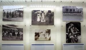 Un pannello della mostra ''Torino e le donne'' - Sezione: Lo sport