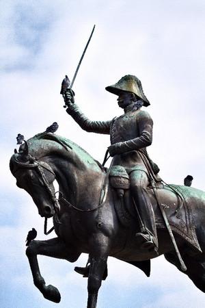 Carlo Marocchetti, Monumento a Carlo Alberto (dettaglio della statuta di Carlo Alberto a cavallo, particolare), 1856-1860. Fotografia di Mattia Boero, 2010. © MuseoTorino.