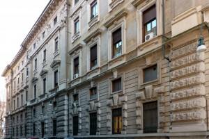 Fronte su via Ruffini di Palazzo Pralormo. Fotografia di Caterina Franchini.