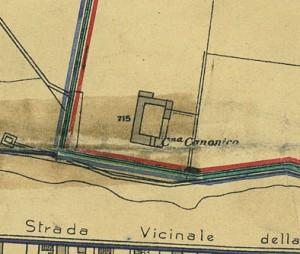 Cascina Canonico. Pianta di Torino, 1935. © Archivio Storico della Città di Torino