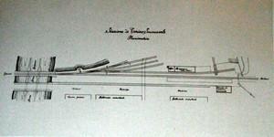 Planimetria della stazione Succursale della Torino-Novara (Luigi Ballatore, Fausto Masi, 1988, p.85.
